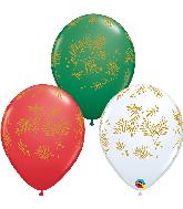 "11"" Contemporary Evergreen Latex Balloons (50 Per bag)"