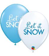 """11"""" Let it Snow Assortment Latex Balloons (50 Per bag)"""