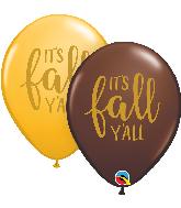"11"" It's Fall Y'all Assortment Latex Balloons (50 Per bag)"