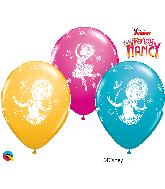 "11"" Disney Fancy Nancy Assorted Latex Balloons"