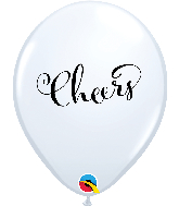 """11"""" Simply Cheers White Latex Balloons"""