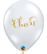"11"" Simply Cheers Diamond Clear Latex Balloons"