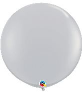 "36"" Qualatex Gray Latex Balloons"