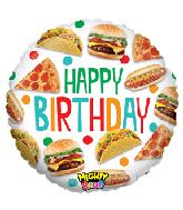 "21"" Mighty Bright Balloon Mighty Food Birthday"