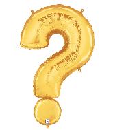 "40"" Foil Balloon Question Mark ( ? ) Gold"