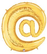 "40"" Foil Balloon "" At"" Symbol ( @ ) Gold"