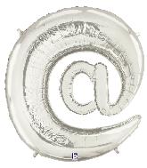 "40"" Foil Balloon"" At"" Symbol ( @ ) Silver"