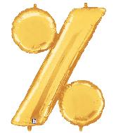 "40"" Foil BalloonPercentage Symbol ( % ) Gold"