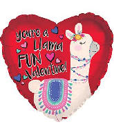 "18"" Llama Fun Valentine's Day Foil Balloon"