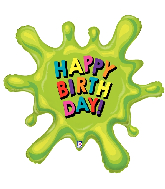 "39"" Foil Shape Balloon Birthday Splat"