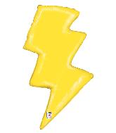 """36"""" Foil Shape Balloon Lightning Bolt"""