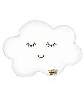 "30"" Mighty Bright Balloon Shape Mighty Sleepy Cloud"