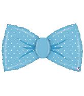 """42"""" Foil Shape Balloon Blue Bowtie"""