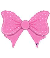 "43"" Foil Shape Balloon Pink Bow"
