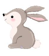 """36"""" Foil Shape Balloon Woodland Bunny"""