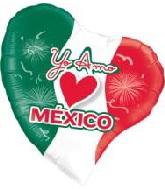 "38"" Yo Amo Mexico Foil Balloon"