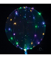 "18"" Crystal Clearz Multi Colored Lights Balloon"