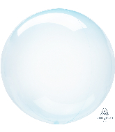 "18"" Crystal Clearz Blue Balloon"