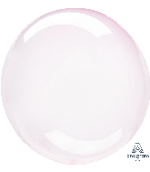 "18"" Crystal Clearz Light Pink Balloon"