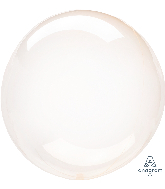 "18"" Crystal Clearz Orange Balloon"