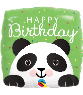 "18"" Square Birthday Panda Foil Balloon"