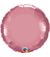 "18"" Round Qualatex Chrome™ Mauve Foil Balloon"