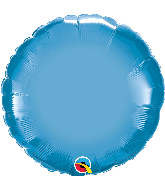 "18"" Round Qualatex Chrome™ Blue Foil Balloon"