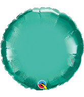"18"" Round Qualatex Chrome™ Green Foil Balloon"
