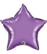 "20"" Star Qualatex Chrome™ Purple Foil Balloon"