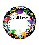 """18"""" Well Done! Add A Name Foil Balloon"""