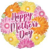 "17"" Happy Mother's Day Daisy Diamonds Foil Balloon"
