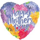"""17"""" Happy Mother's Day Lavender Font Foil Balloon"""