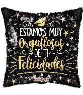 """9"""" Airfill Only Orgullos De Ti Graduado Foil Balloon"""