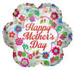"""18"""" Mother's Day Classic Flowers Foil Balloon"""
