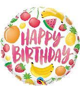 "18"" Round Birthday Fruits Foil Balloon"