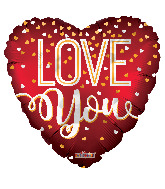 "4"" Love You Red Matte Foil Balloon"