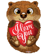 "18"" I Love You Otter Foil Balloon"