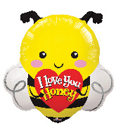 "20"" I Love You Honey Bee Foil Balloon"