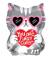 "18"" You Are Furry Cute Cat Foil Balloon"