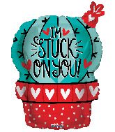 "18"" I'm Stuck On You Cactus Love Foil Balloon"