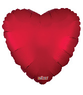 "9"" Solid Color Matte Red Foil Balloon"
