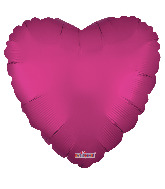 "9"" Solid Color Matte Hot Pink Foil Balloon"