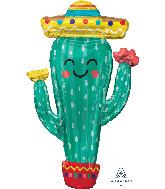 "38"" Fiesta Cactus SuperShape Foil Balloon"