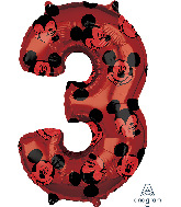 "26"" Mickey Mouse Forever Number 3 Mid-Size Foil Balloon"