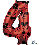 "26"" Mickey Mouse Forever Number 4 Mid-Size Foil Balloon"