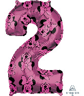 "26"" Minnie Mouse Forever Number 2 Mid-Size Foil Balloon"
