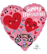 "29"" Sing-A-Tune Irresistible Love Foil Balloon"