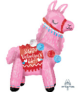 "22"" Airfill Only Valentine Llama Foil Multi-Balloon"
