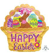 """15"""" Junior Shape Eggcellent Easter Basket Foil Balloon"""