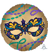"""18"""" Satin Infused Night in Disguise Mask Foil Balloon"""